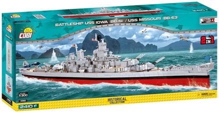 Bild på COBI WW2 4812 Battleship USS Iowa/Missouri 2in1