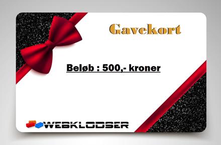 Bild på Gavekort elektronisk 500,- Kroner