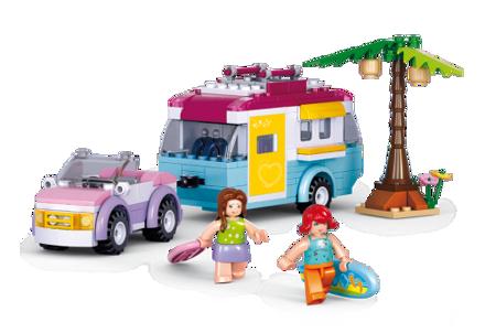 Bild på Bil med campingvogn, Sluban Car with Caravan M38-B0606