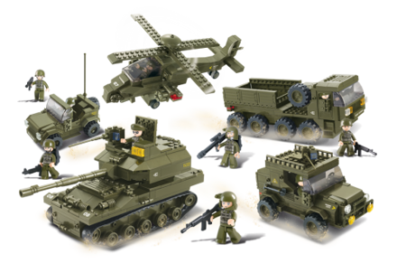Bild på Militær enhed, Sluban Army Set M38-B0311