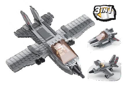 Bild på Kampfly 3-i-1, Sluban Fighter Jet 3-in-1 M38-B0537I