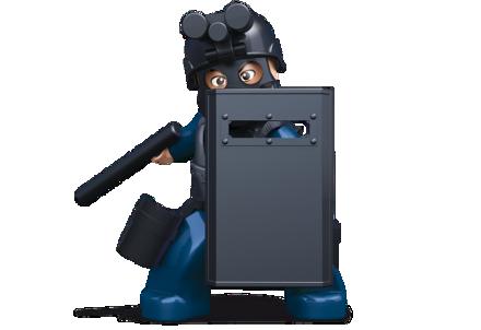 Bild på Sluban Cop With Gas Mask and Shield M38-B0585E