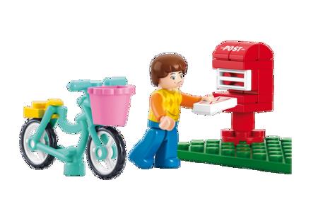Bild på Postkasse og dreng, Sluban Mail Box M38-B0516