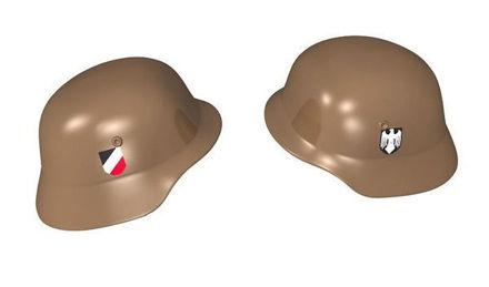COBI-79116 Stahlhelm - German military helmet with prints, brown