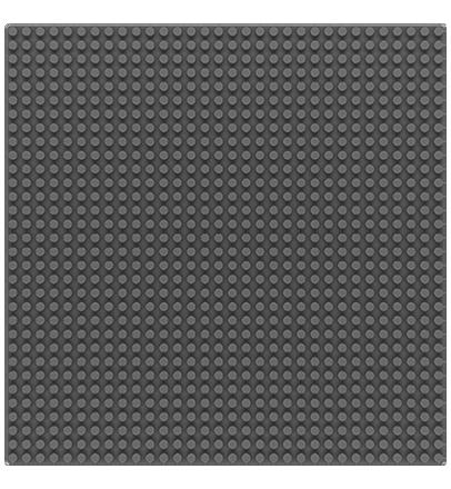 Sluban base plate grey 32x32 M38-B0833D