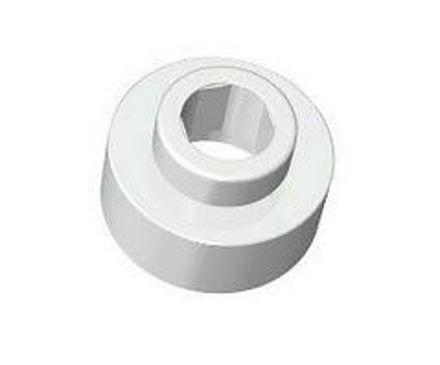 COBI - Aeroplane engine 1x1 1/3 hole 3mm - light grey