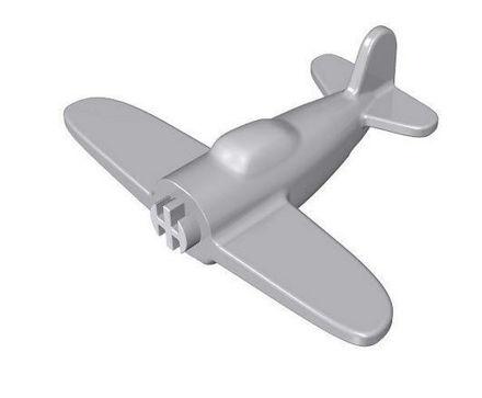 COBI -  Airplane without printing 1:300 grey
