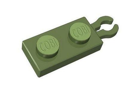 COBI - 1x2 1/3 hook  green