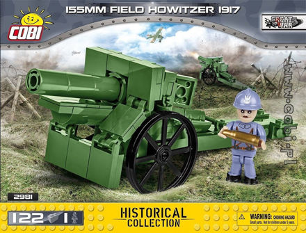 COBI Great War 2981 155 mm Field Howitzer 1917 - Fransk howitzer