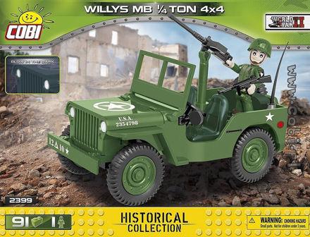 Cobi WW2 2399- Willys MB 1/4 Ton 4x4