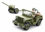 Sluban WWII M38-0853 Allieret jeep med kanon