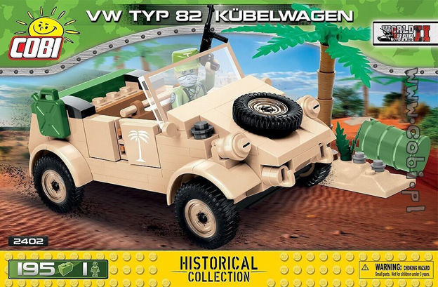 Cobi WW2 2402 - VW type 82 Kübelwagen