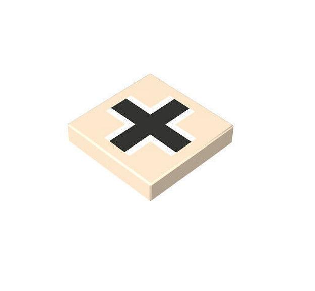 COBI 100441 2x2 1/3 German cross beige