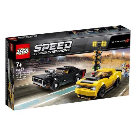 LEGO Speed Champions 75893 2018 Dodge Challenger SRT Demon og 1970 Dodge Charger R/T