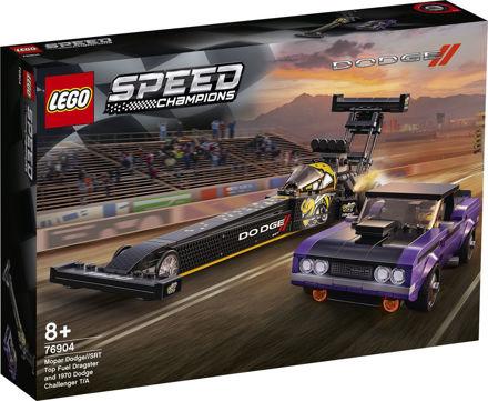 LEGO Speed Champions 76904 Mopar Dodge//SRT Top Fuel-dragster og 1970 Dodge Challenger T/A