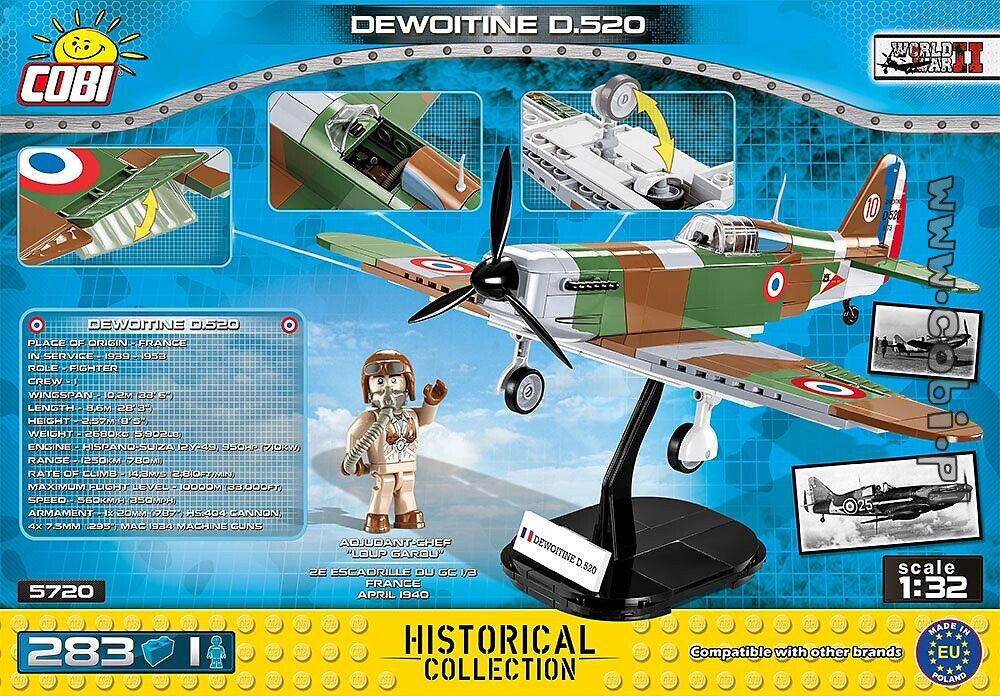 Cobi Small Army WW2 5720 - Dewoitine D.520
