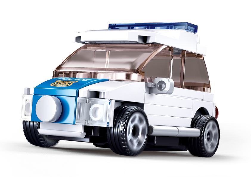 Sluban M38-B0916H - Pull-Back Police Car