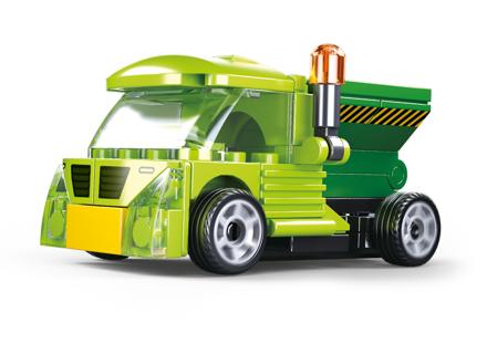 Sluban M38-B0916E - Pull-Back Garbage Truck