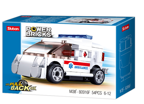 Sluban M38-B0916F - Pull-Back Ambulance