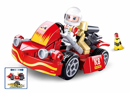 Sluban M38-B0899 - Pull-Back Kart