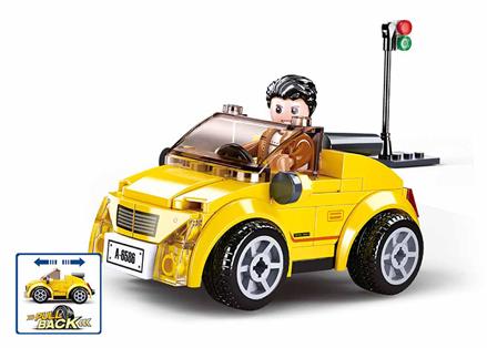 Sluban M38-B0900 - Pull-Back Yellow Cabrio