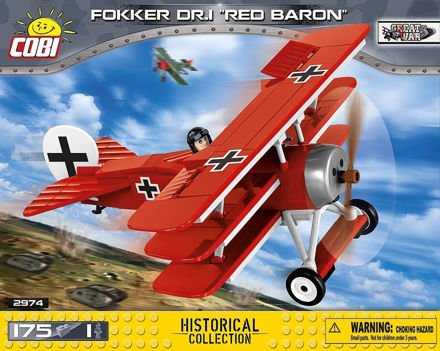 Picture of COBI Great War 2974 Fokker Dr.1 red Baron