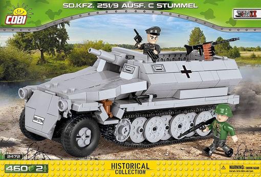 Bild på Cobi Small Army WW2 2472A - Sd.Kfz.251/10 Ausf.C Stummel