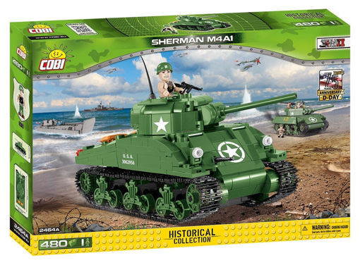 Picture of Cobi WW2 2464A - Sherman M4A1 D-Day