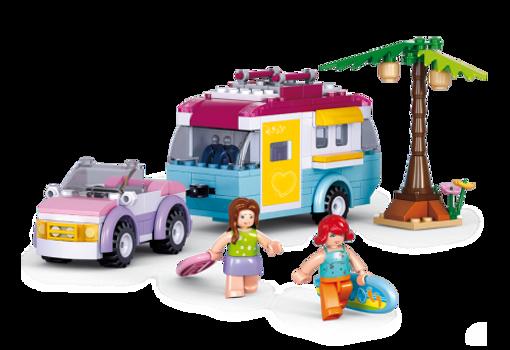 Billede af Bil med campingvogn, Sluban Car with Caravan M38-B0606