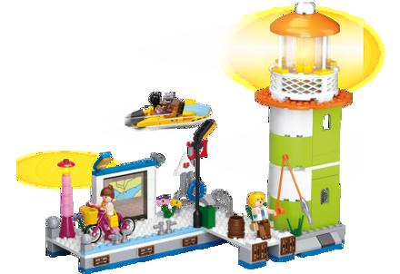 Billede af Fyrtårn med havn, Sluban Lighthouse M38-B0607