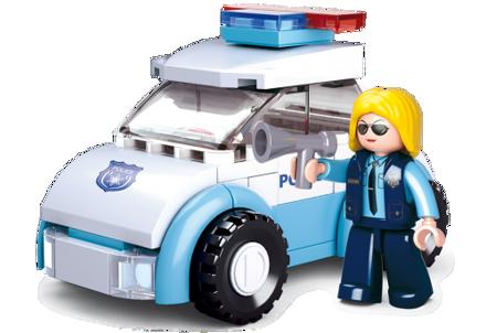 Billede af Politibil med politidame, Sluban Police Car M38-B0600B