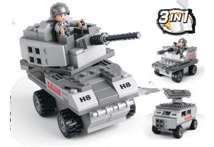 Picture of Armeret køretøj 3-i-1, Sluban Armored Vehicle 3-in-1 M38-B0537B