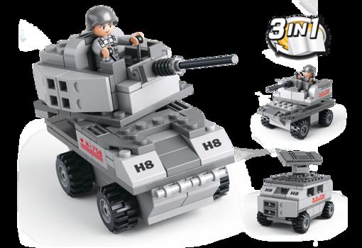 Billede af Armeret køretøj 3-i-1, Sluban Armored Vehicle 3-in-1 M38-B0537B