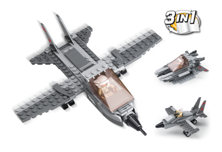 Picture of Kampfly 3-i-1, Sluban Fighter Jet 3-in-1 M38-B0537I