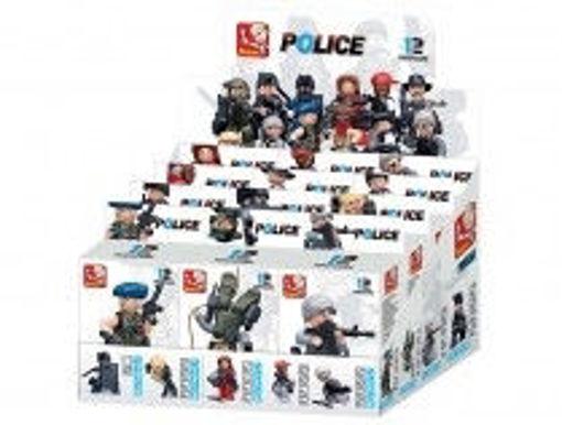 Billede af Boxset Sluban Politi & Røvere med 12 figurer M38-B0586