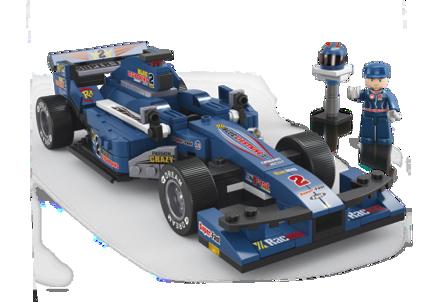 Bild på Racer blå, Sluban Racingcar Blue M38-B0353