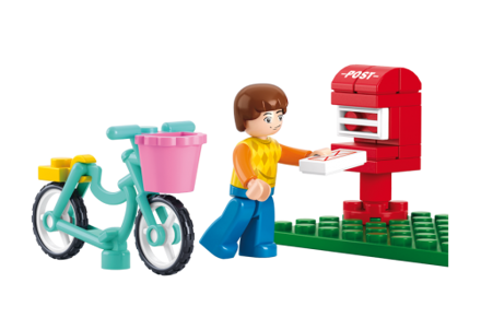 Billede af Postkasse og dreng, Sluban Mail Box M38-B0516