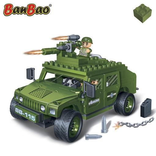 Bild på BanBao 8842 World Defence militærjeep med maskingevær