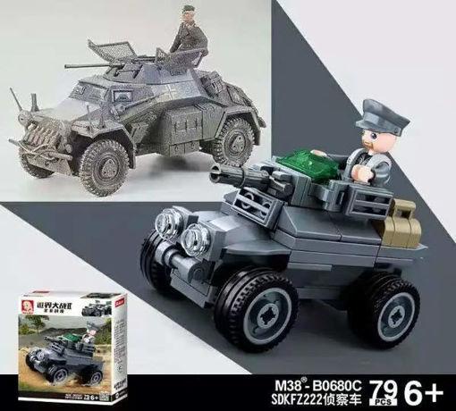 Sluban M38-0680C German WWII Panzer wagen