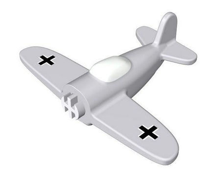 COBI -  Airplane with printing 1:300 Grey