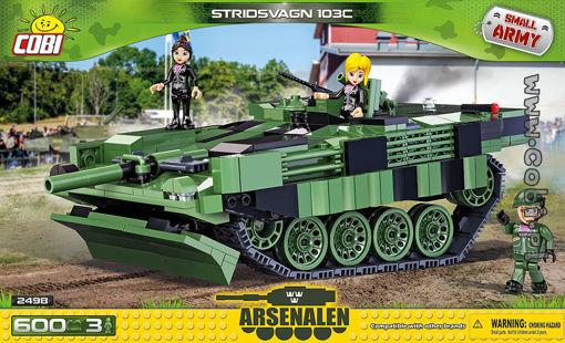 Cobi Small Army 2498 Stridsvagn 103C - Svensk MBT