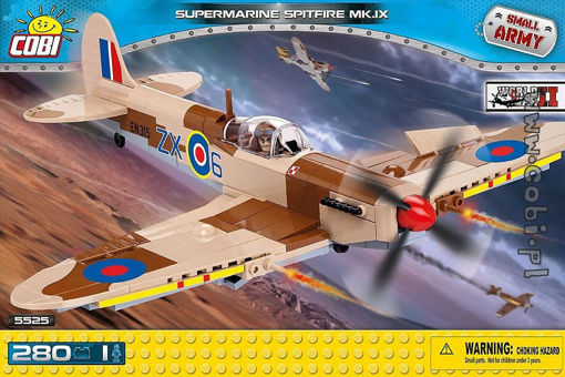 Cobi Small Army WW2 5525 - Supermarine Spitfire Mk. IX - British fighter