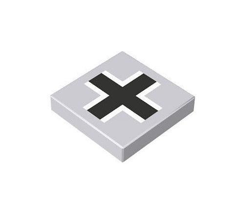 COBI 67201 2x2 1/3 German cross grey