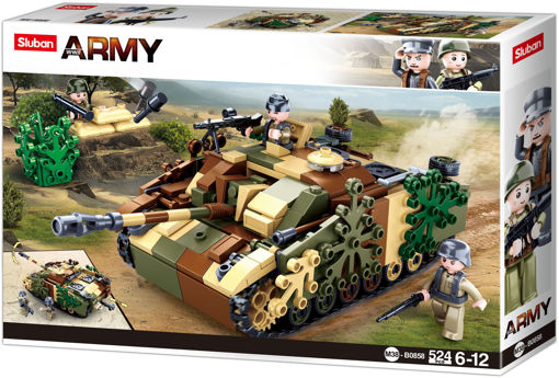 Sluban WWII M38-0858 Camoufleret tank