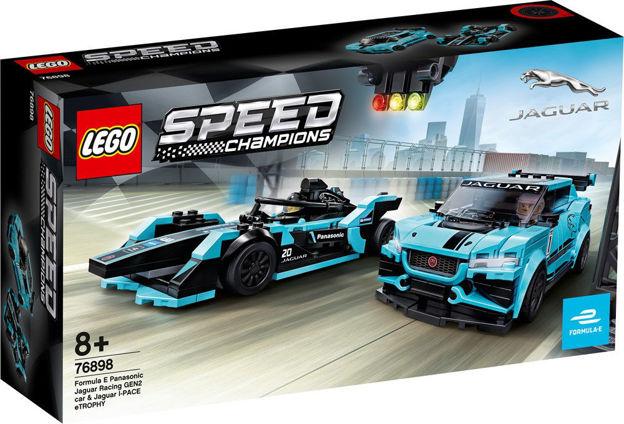 LEGO Speed Champions 76898 Formula E Panasonic Jaguar Racing GEN2-bil og Jaguar I-PACE eTROPHY