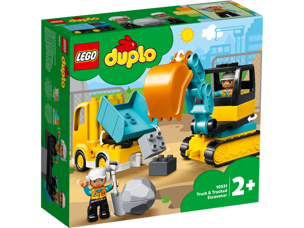 LEGO DUPLO 10931 Lastbil og gravemaskine på larvefødder