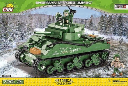 COBI WW2 2550 Sherman M4A3E2 Jumbo