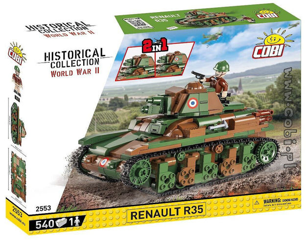 COBI WW2 2553 - Renault R35
