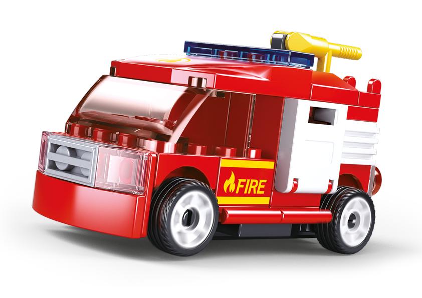 Sluban M38-B0916G - Pull-Back Fire Truck