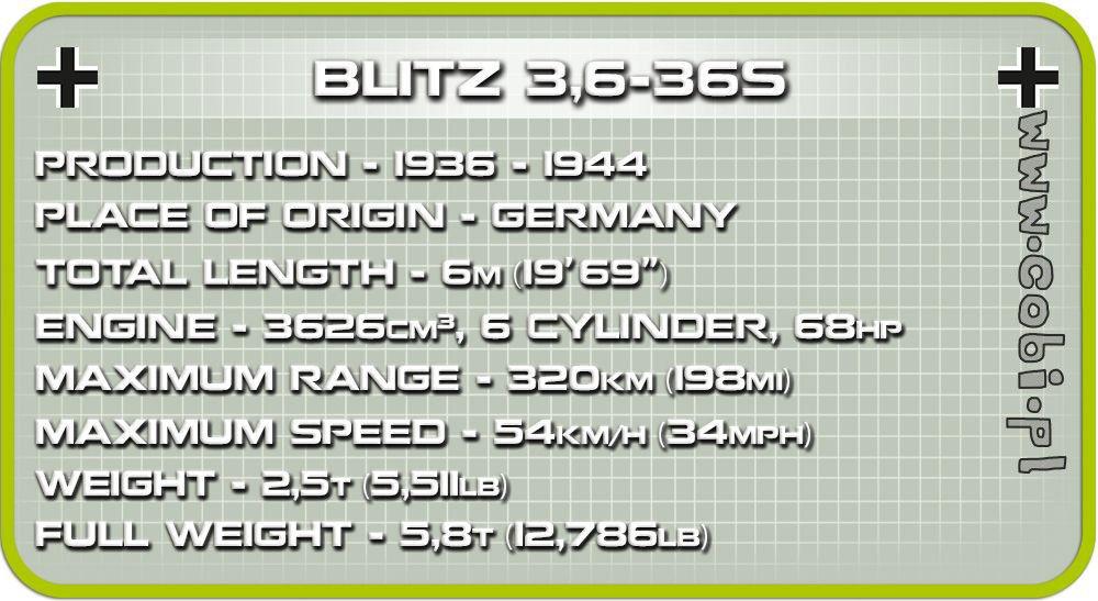 COBI WW2 2259 Blitz 3,6-36S